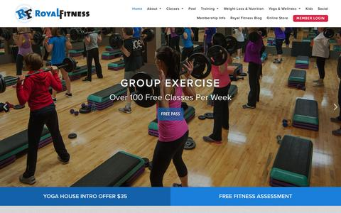 Screenshot of Home Page royalfit.com - South Jersey Gym - Royal Fitness - captured Feb. 15, 2016