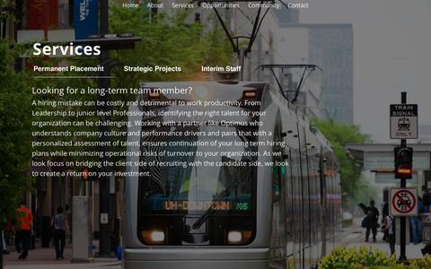 Screenshot of Services Page optimus-us.com - For Clients | Commodity Search Resources | Recruitment Firm | OPTIMUS | Optimus-US.com - captured Oct. 26, 2017