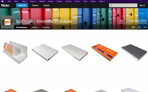 Screenshot of Flickr Page flickr.com - Flickr: IsoBouw - Innovatie in isolatie's Photostream - captured Oct. 23, 2014