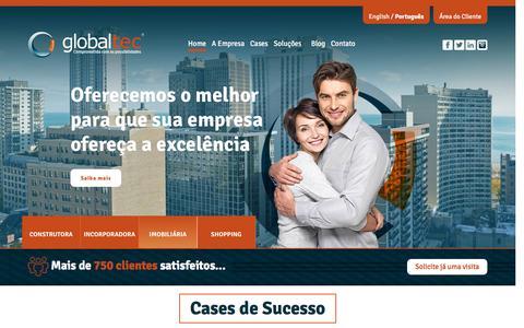 Screenshot of Home Page globaltec.com.br - Globaltec - captured Jan. 24, 2016