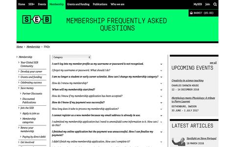 Screenshot of FAQ Page sebiology.org - FAQs - captured Nov. 30, 2016