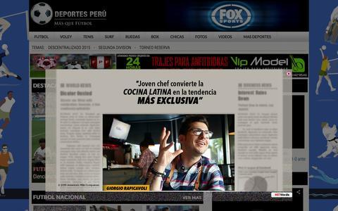 Screenshot of Home Page deportesperu.pe - Deportes Peru   Todos los deportes en un solo lugar - captured Sept. 24, 2015
