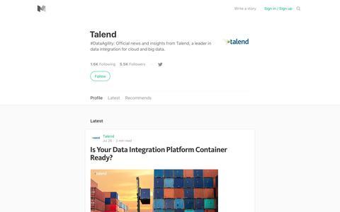 Talend – Medium