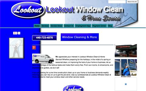 Screenshot of Home Page lookoutwindowcleanandhomeservice.com - Lookout Window Clean & Home Service - captured Oct. 3, 2014
