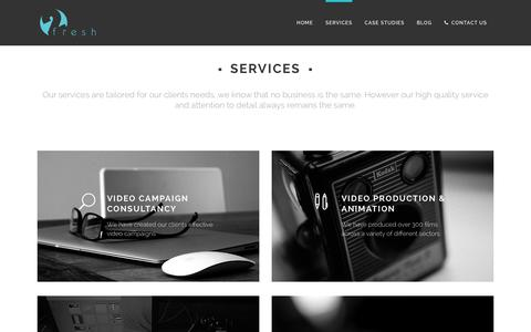 Screenshot of Services Page twofreshproductions.com - Video Production Services | Two Fresh Productions - captured Jan. 12, 2016