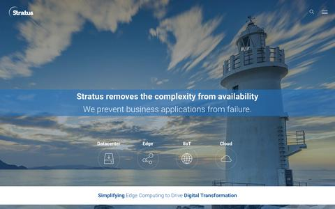 Screenshot of Home Page stratus.com - (1) New Message! - captured July 24, 2019