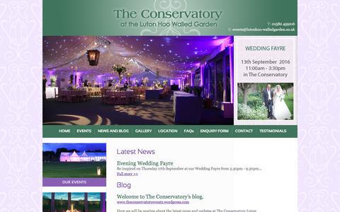Screenshot of Press Page lutonhoo-walledgarden.co.uk - Wedding & Events Venue Hertfordshire & Bedfordshire / Luton Hoo Walled Garden - captured June 24, 2016