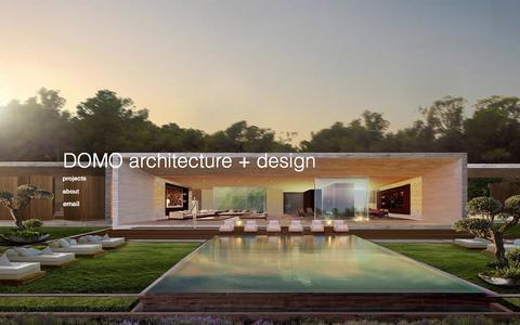 Screenshot of Home Page domodesignstudio.com - domodesignstudio - captured Oct. 5, 2014