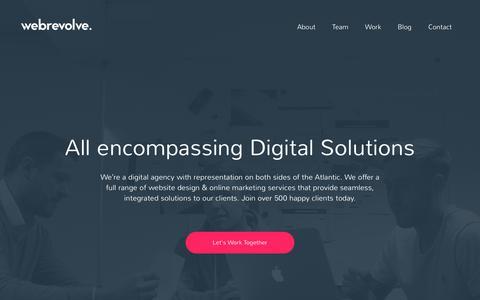 Screenshot of Home Page webrevolve.com - Webrevolve   Creative & Innovative Web Design in Liverpool - captured Sept. 20, 2018