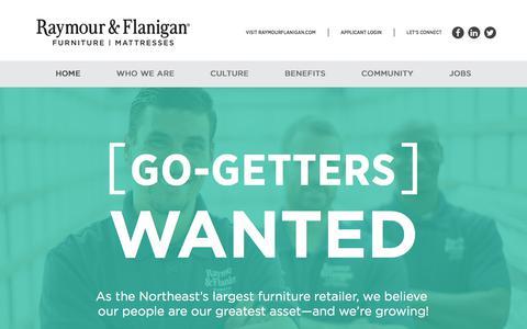 Screenshot of Jobs Page raymourflanigan.com - Raymour & Flanigan Careers - captured July 17, 2019