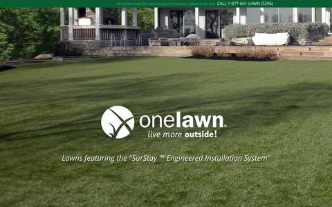 Screenshot of Home Page onelawn.com - onelawn | Artificial Lawn & Synthetic Grass - San Francisco Bay Area - captured Sept. 2, 2015