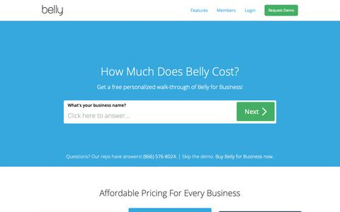 Screenshot of Pricing Page bellycard.com - Business Customer Loyalty Program | Belly - captured Oct. 21, 2018