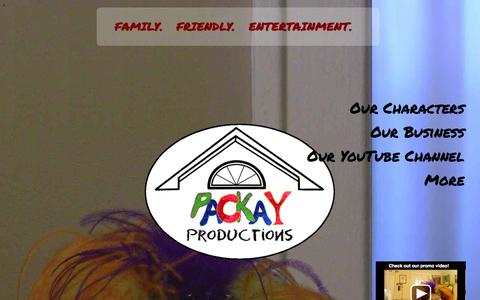 Screenshot of Home Page packay.com - PacKay Productions - captured Oct. 1, 2014
