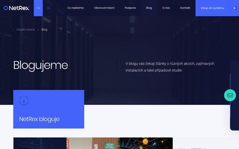 Screenshot of Blog netrex.cz - Blog - NetRex - captured Oct. 18, 2018