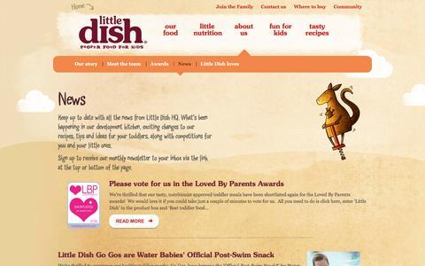 Screenshot of Press Page littledish.co.uk - News - Little Dish - captured July 15, 2016