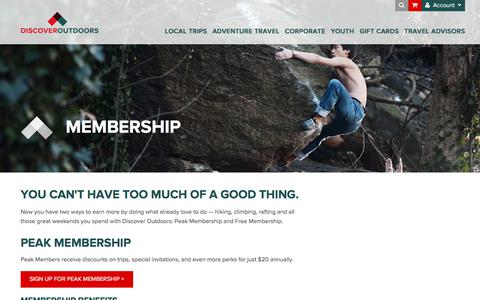 Screenshot of Signup Page discoveroutdoors.com - Membership Plans — Discover Outdoors - captured Aug. 7, 2018