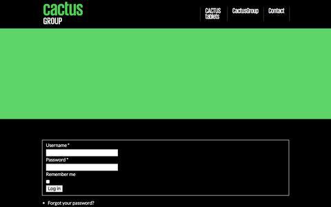 Screenshot of Login Page cactusgroup.dk - Author Login - captured Dec. 6, 2015