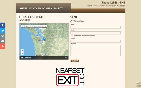 Screenshot of Privacy Page Locations Page nearestexitllc.com - Locations - captured June 18, 2017