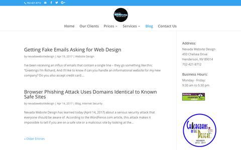 Nevada Website Design Blog | Nevada Website Design | Henderson | Las Vegas