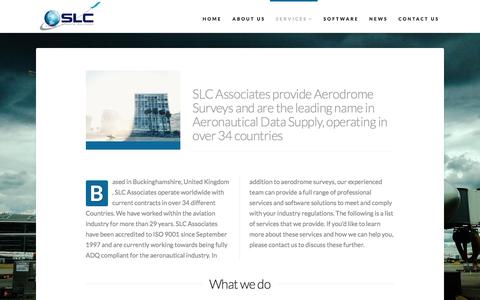Screenshot of Services Page slcassociates.co.uk - SLC Associates | Geomatic Engineers | Aerodrome Surveys - captured May 17, 2017