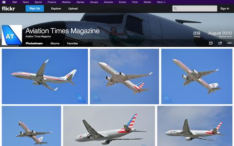 Screenshot of Flickr Page flickr.com - Flickr: Aviation Times Magazine's Photostream - captured Oct. 23, 2014