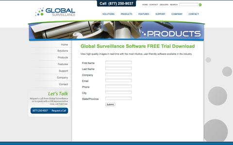 Screenshot of Trial Page gsiamerica.com - Global Surveillance, Inc. » freetrial - captured Oct. 8, 2014