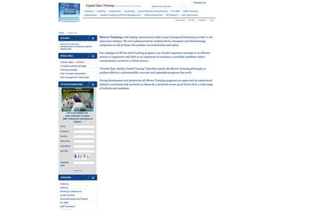Screenshot of About Page mvitraining.com - About  Us - captured Oct. 27, 2014