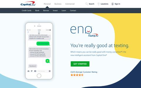 Eno, an Intelligent Assistant from Capital One | Capital One