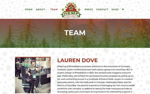 Screenshot of Team Page capitolhemp.com - Capitol Hemp Team | DC's Top Choice for Cannabis Clothing & Accessories | Capitol Hemp - captured July 16, 2018