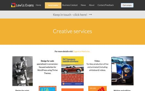 Screenshot of Services Page lewisevans.net - Creative services | Lewis Evans - captured May 18, 2017