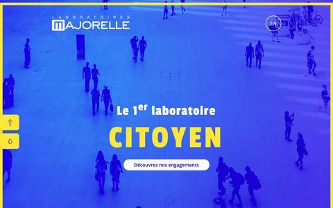 Screenshot of Home Page laboratoires-majorelle.com - Majorelle, Laboratoire citoyen - captured Nov. 4, 2018