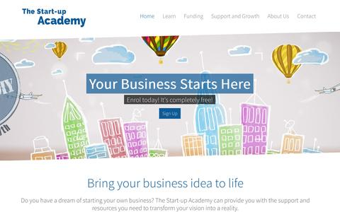 Screenshot of Home Page startupacademy.org.uk - The Start-up Academy | Home - captured Oct. 7, 2014