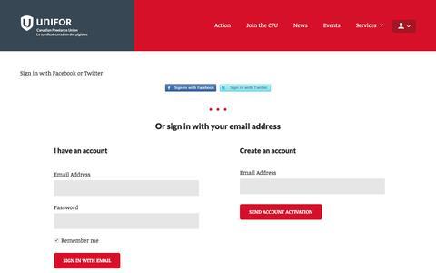 Screenshot of Login Page nationbuilder.com - Sign in - captured March 18, 2017