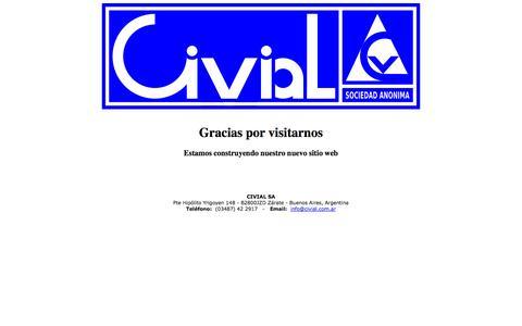 Screenshot of Home Page civial.com.ar - Civial S.A. - Constructora - Argentina - captured Oct. 1, 2014