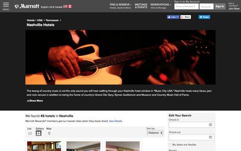 Find Nashville Hotels by Marriott