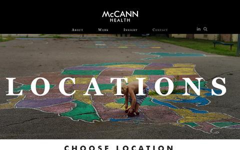 Screenshot of Locations Page mccannhealth.com - Locations | McCann Health - captured Jan. 20, 2016