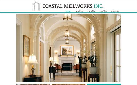 Screenshot of Home Page coastalmillworks.com - Coastal Millworks - South Florida Architectural Woodwork - captured Jan. 29, 2016