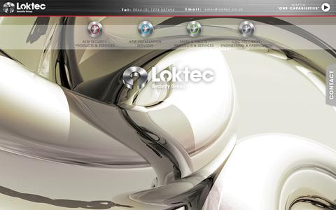 Screenshot of Home Page loktec.co.uk - Loktec - ATM Security, Secure Safes and Vaults - captured Oct. 3, 2014