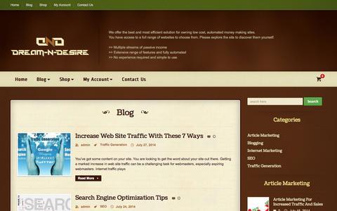 Screenshot of Blog dream-n-desire.com - Dream-N-Desire | Website Designing and Development - captured Nov. 2, 2014