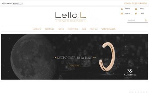 Screenshot of Home Page lellal.com - Bijoux de Créateurs Uniques et Maroquinerie | Lella L - captured June 3, 2016