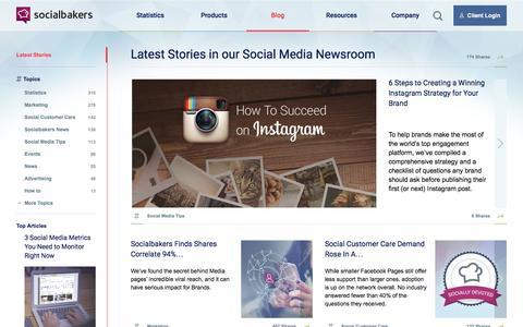 Screenshot of Blog socialbakers.com - Social Media News with Socialbakers Data | Socialbakers - captured Nov. 20, 2015