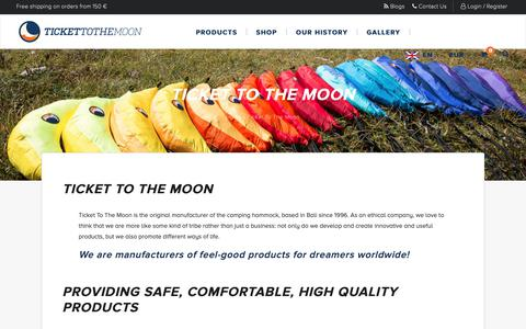 Screenshot of About Page ticketothemoon.com - About Us   Hammock Manufacturer   Ticket To The Moon - captured Oct. 18, 2018