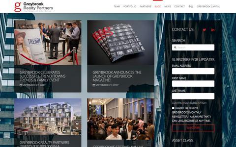 Screenshot of Blog greybrook.com - Greybrook Realty Partners Blog - captured Sept. 23, 2017