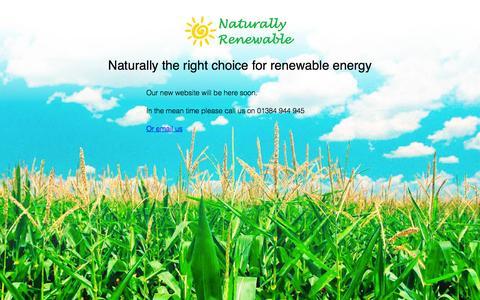 Screenshot of Home Page naturallyrenewable.co.uk - Naturally Renewable Ltd - captured Oct. 10, 2014