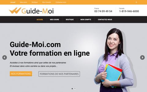 Screenshot of Home Page guide-moi.com - Accueil - Guide-Moi.com - captured Oct. 25, 2018