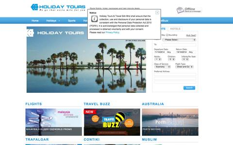 Screenshot of Home Page holidaytours.com.my - Holiday Tours & Travel - captured Oct. 10, 2014