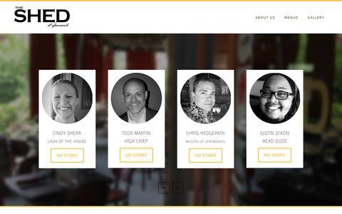 Screenshot of Team Page theshedatglenwood.com - OUR TEAM - captured June 15, 2017