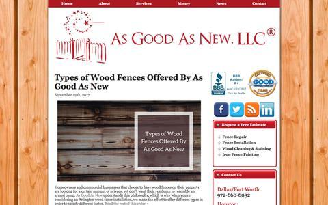 Screenshot of Press Page asgoodasnewfence.com - Fence/Deck Tips, News Updates & Blog Posts   As Good As New Fence, LLC - captured Oct. 8, 2017
