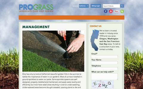 Screenshot of Team Page prograss.com - Management - Prograss - captured Oct. 3, 2014