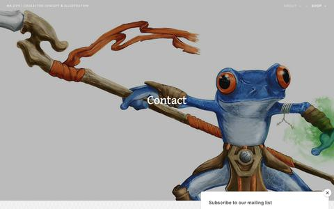 Screenshot of Contact Page mrjiyn.com - Contact – Mr Jiyn | Character Concept & Illustration - captured Oct. 19, 2018